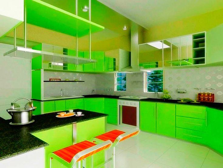 Cocinas Verdes Y Blancas. Awesome Decoracin Femenina En Tonos ...