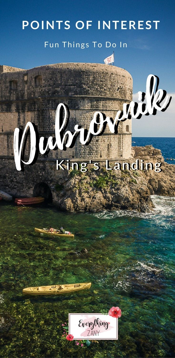 #Dubrovnik #DubrovnikOldTown #DubrovnikCroatia   Points of Interest: Fun Things To Do In Dubrovnik (King's Landing)   There are various things to do in Dubrovnik for everyone to enjoy.  Dubrovnik is a charming and historical city in along the Dalmatian coast. It has been a popular destination for the last few years due to the famous tv series Game of Thrones. It is one of the main filming locations of Game Of Thrones as their King's landing.