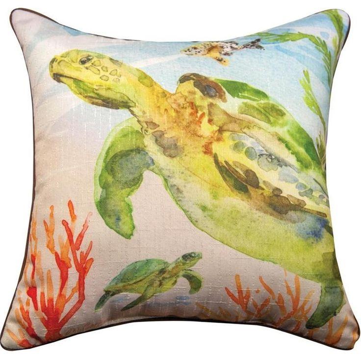 Sea Turtles Pillow Set | Indoor Outdoor | Manual Woodworkers