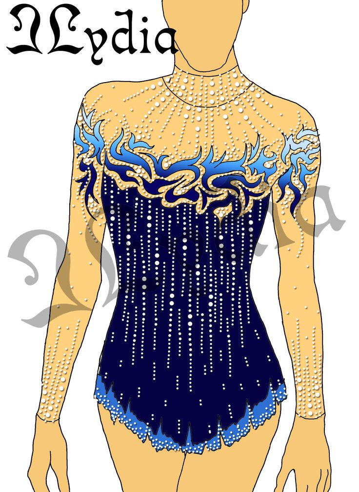 Competition Rhythmic gymnastic leotards Design Duches