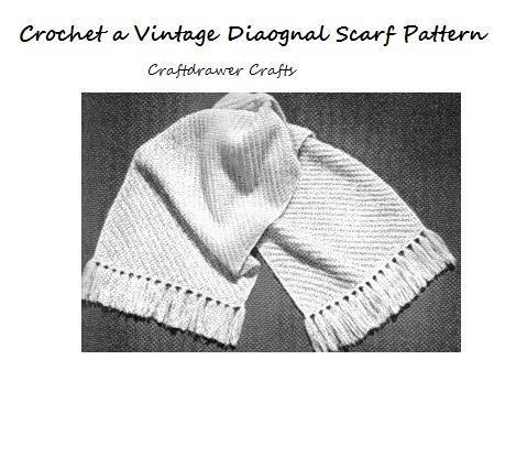DIAGONAL CROCHET SCARF PATTERNS – Free Crochet Patterns