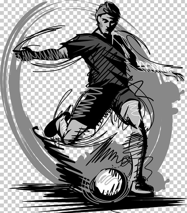 Football player drawing sketch png art automotive