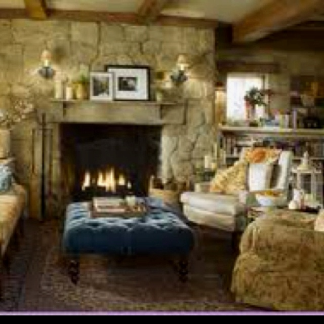 Cottage Living Room With Fireplace 83 best fireplaces images on pinterest | primitive decor