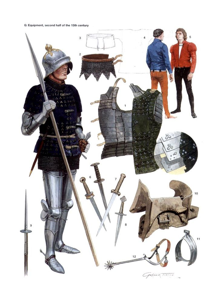 English man-at-arms second half of 15th century