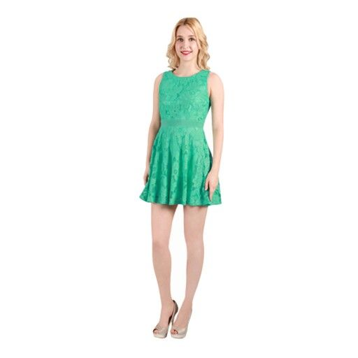 Lace dress, beautiful peppermint colour. Comes in navy too.
