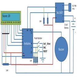 Medicine Reminder using Arduino: Circuit Diagram