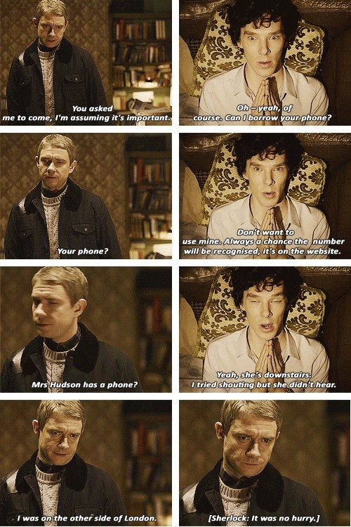 [SET OF GIFS] 1x01 A Study in Pink John Watson is getting real tired of you, Sherlock