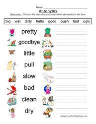 math worksheet : best 25 antonyms worksheets ideas on pinterest : Synonyms Worksheets For Kindergarten