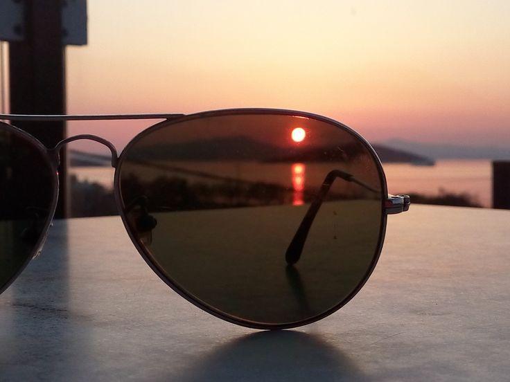 No sunglasses...  #nofilter #welovemarmari  #alykes #alykeshotel #marmari #evia #relax #vacations #greece #family #sea #sunset #greekislands