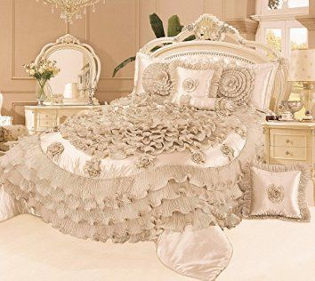 Tache 6 Piece Frosted Fields Faux Satin Luxury Comforter Set, Queen    Here are some unique bedding sets that are truly one of a kind., I love that this bedding comes in queen, king and cali-king.  Moreover, these bedding sets are unique and abstract because they are trending like crazy.  These unique bedding sets will give you great inspiration and bedroom decorating ideas whether it be a kid's bedroom, a guest room or most importantly your master bedroom.