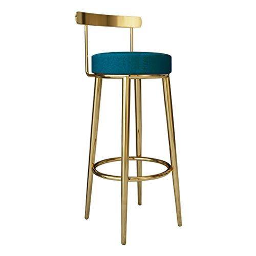 Mmli Barstools Bar Stool Pub Counter Cafe Kitchen Home Dining Height Footrest Breakfast Backrest Gold Metal Upholstered Bar Stools Metal Bar Stools Bar Stools
