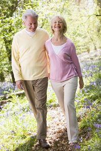 Seniors Walk Outdoors for Better Health