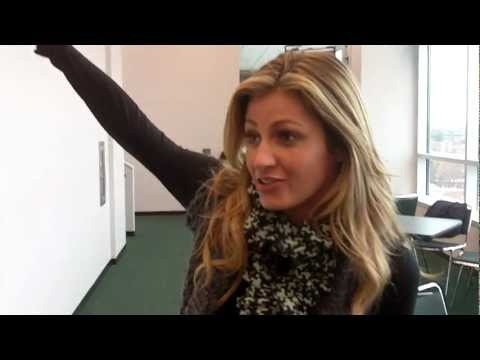 ESPN's Erin Andrews visits Michigan State University for College Game Day in October 2011 #spartans