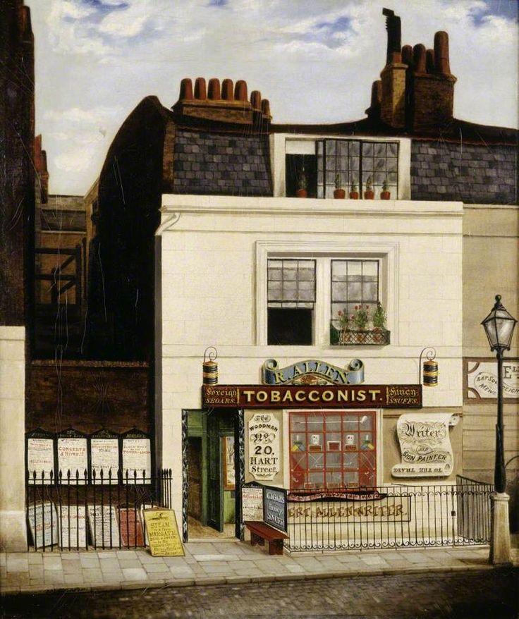 Allen's Tobacconist Shop, 'The Woodman', 20 Hart Street, Grosvenor Square, London by Robert Allen, 1841