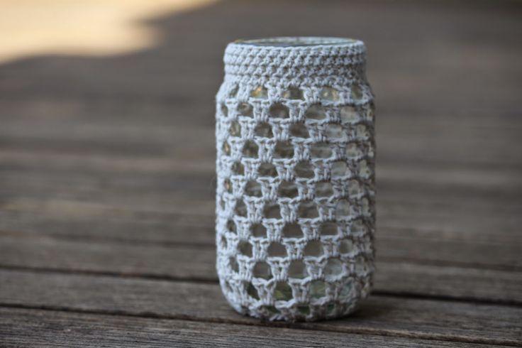 edward and lilly: crochet jar cosy pattern