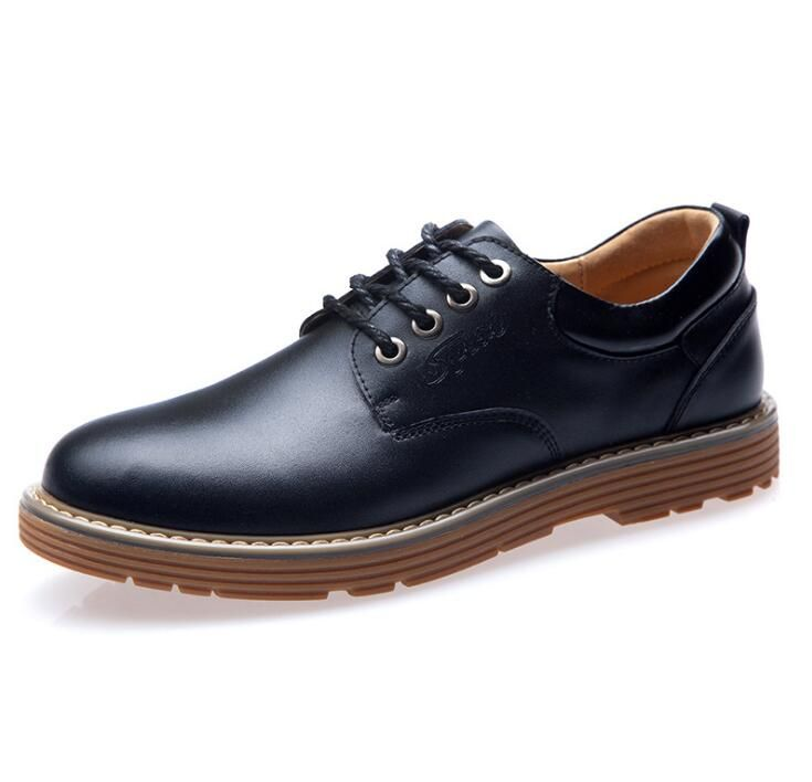 2016 New British fashion brand Business men's Genuine leather shoes high quality Oxfords Official Dress Outdoor shoes 688#