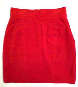 Vintage Velvet United Colors of Benetton Red/Orange Skirt, Size 44, S-M, Italy