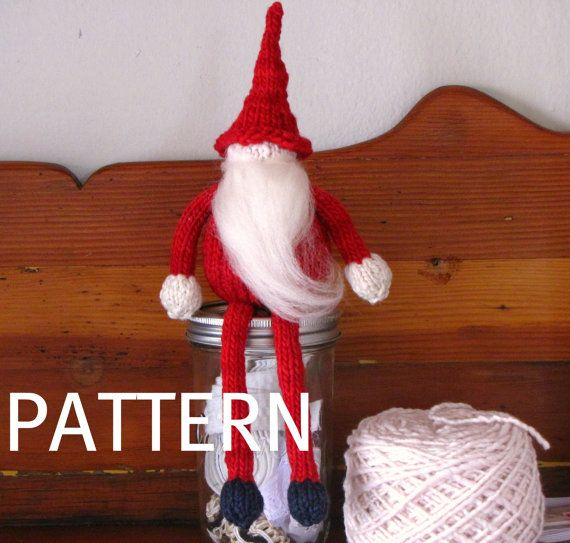 Knitting Pattern For Bernard The Elf : Father Christmas Santa Gnome, Elf Knitting Pattern, PDF ...