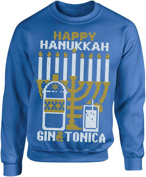 Ugly Christmas Sweater Happy Hanukkah Funny by rwelite on Etsy