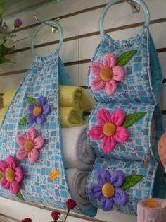 O que acha deste #porta #toalhas. Eu adoro! Saiba como fazer mais coisas em http://www.comofazer.org