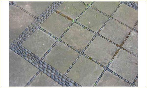 Мозаика из гальки. Плитка и галька