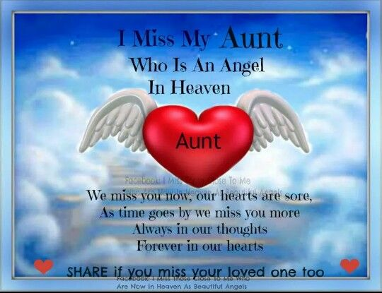 Miss You So Much Aunt Vicky.