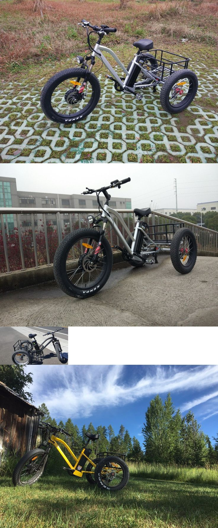 Electric bike adaption for wheel chair youtube - Electric Bicycles 74469 Electric Trike 7 Speed Fat Tire Bike Tricycle