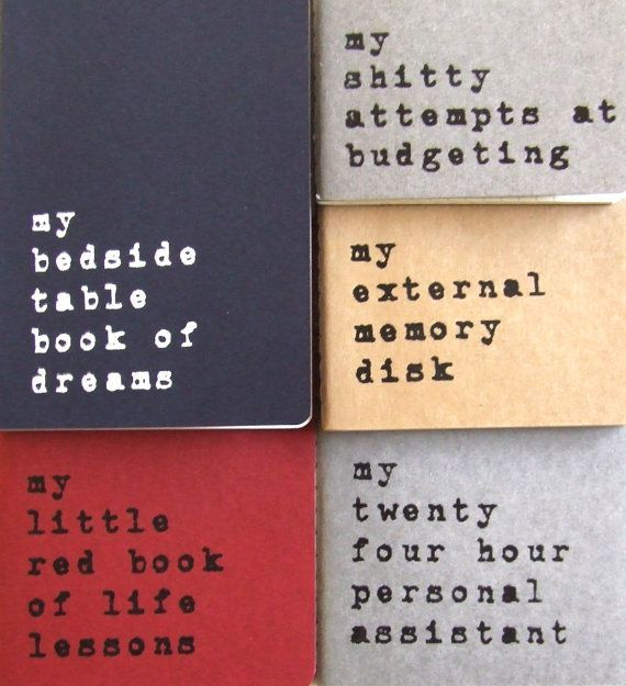 Hand printed MOLESKINE notebook 'my little red book by Alfamarama