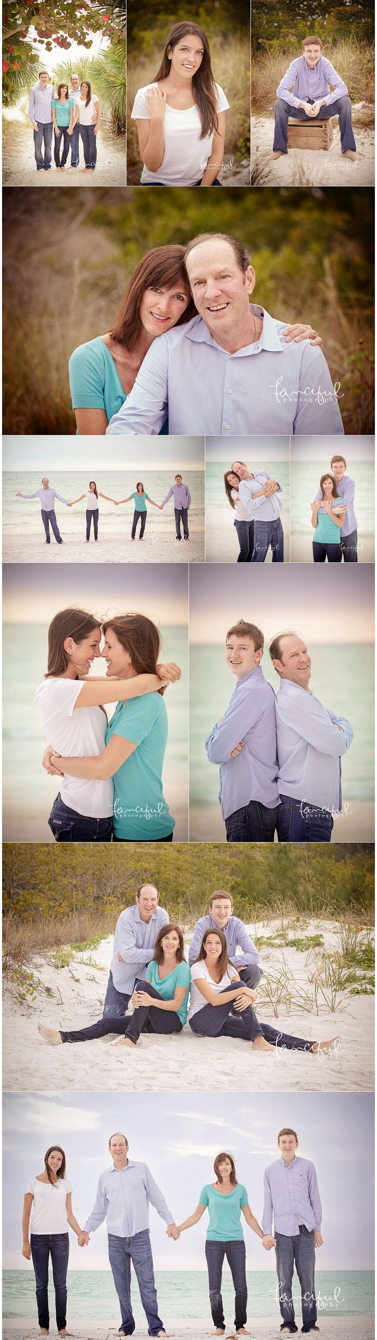 Siesta Key Family Beach Portrait Session  | http;//fancifulphotography.com