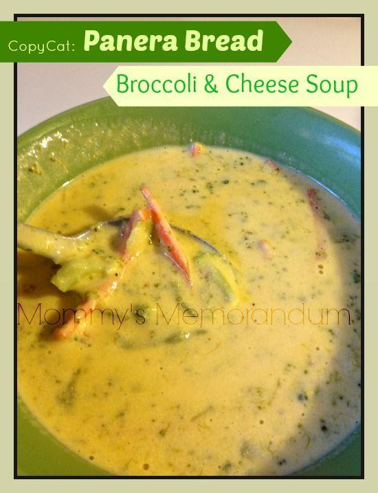 Panera Bread's Broccoli Cheese Soup