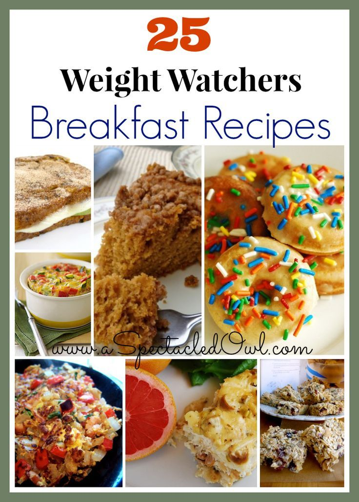 25 Weight Watchers Breakfast Recipes - A great way to eat what you love but still lose weight