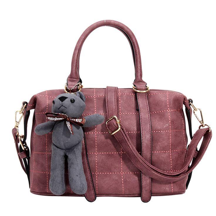 18$ ONLY!!   Купить Женщина кожаные сумки роскошные сумки дамы Бостон сумки дизайнеры бренд моды медведь сумки на ремне сумка сумки мешоки другие товары категории Сумки с короткими ручкамив магазине Shenzhen Idea Fashion Bags Co., LtdнаAliExpress. мешок тенниски и мешок рекламы