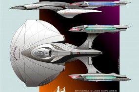 Starship concept for CBS/Cryptic Studios Star Trek Online