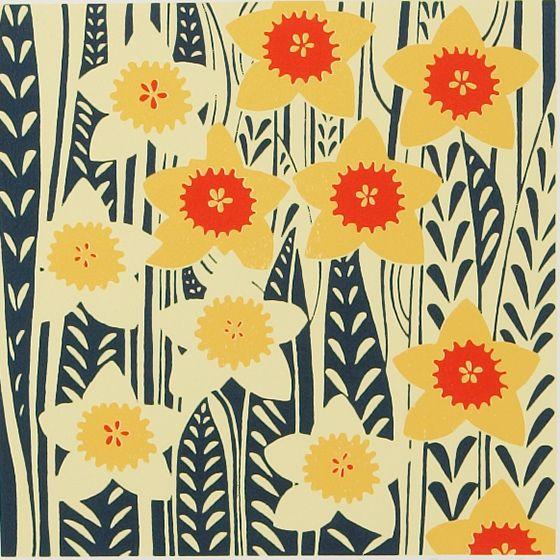Daffodils Red | Emma Hardicker, Silkscreen Artist, Designer and Printer