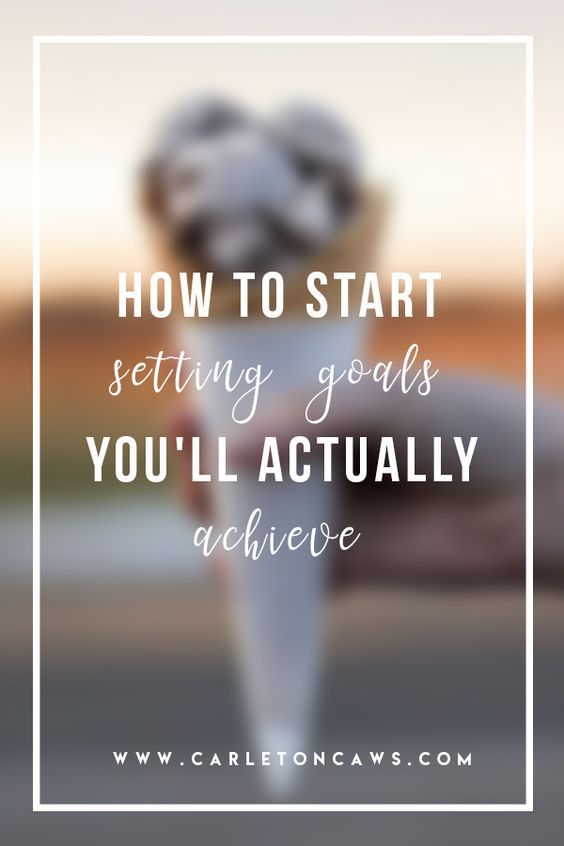 How to Start Setting Goals You'll Actually Achieve. A lot of people set goals but never achieve them. I'm going to teach you today how to set those goals that you will achieve.