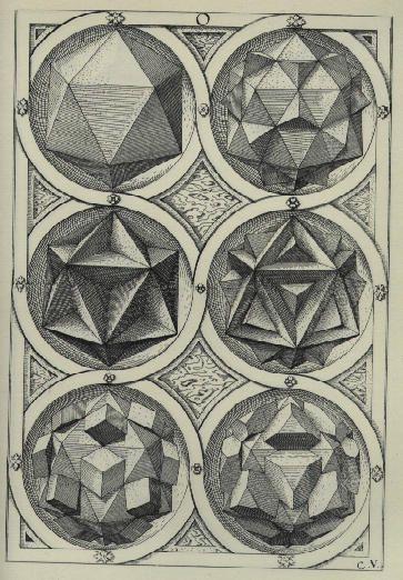 Platonic shapes...Wentzel Jamnitzer's Polyhedra