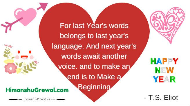 Happy New Year my love quotes in English