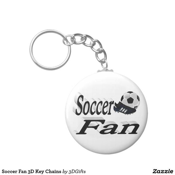 Soccer Fan 3D Key Chains #zazzle #mls #soccer #fifa