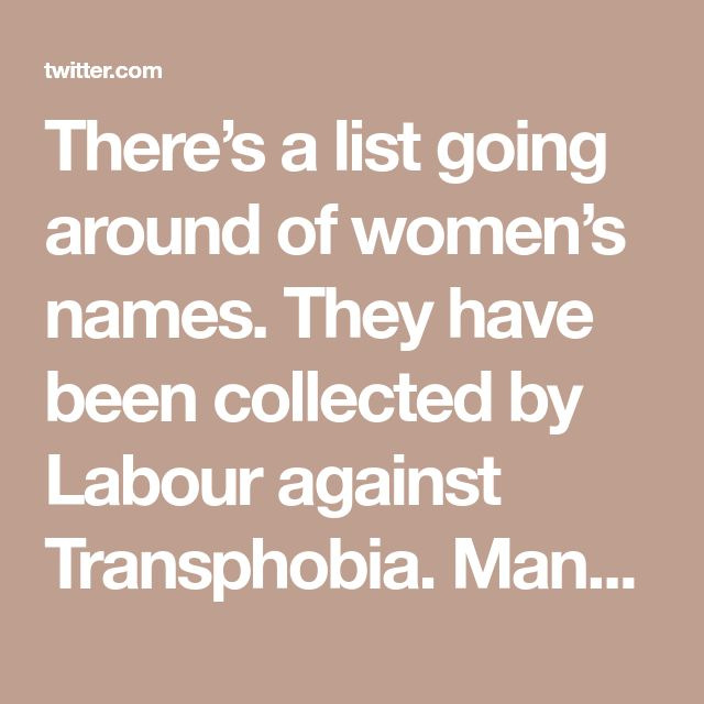 y of these women are unconnected to labour, or have left. Classy: men collecting information on women they disagree with, for the purpose of targeting these women. Stalinist.