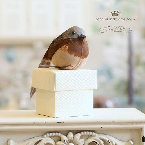 lovely bird wedding favour box www.bohemiandreams.co.uk