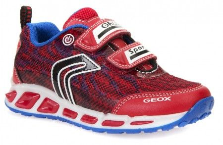 Geox Shuttle Red Trainers - Geox Kids Shoes - Little Wanderers