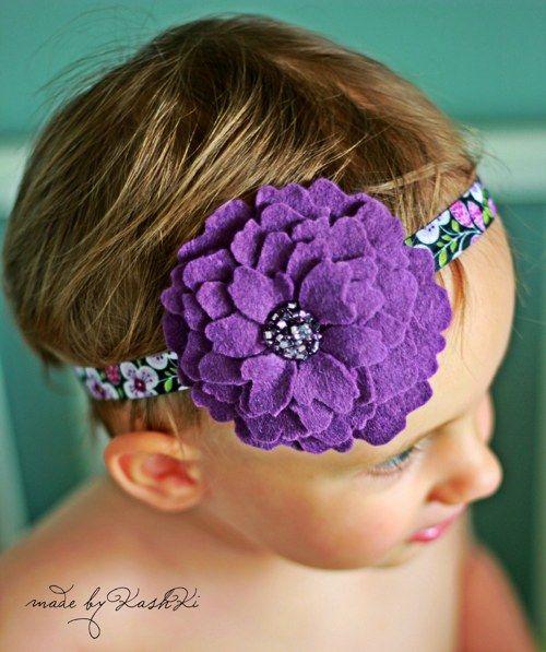 #Headbands #felt #flower