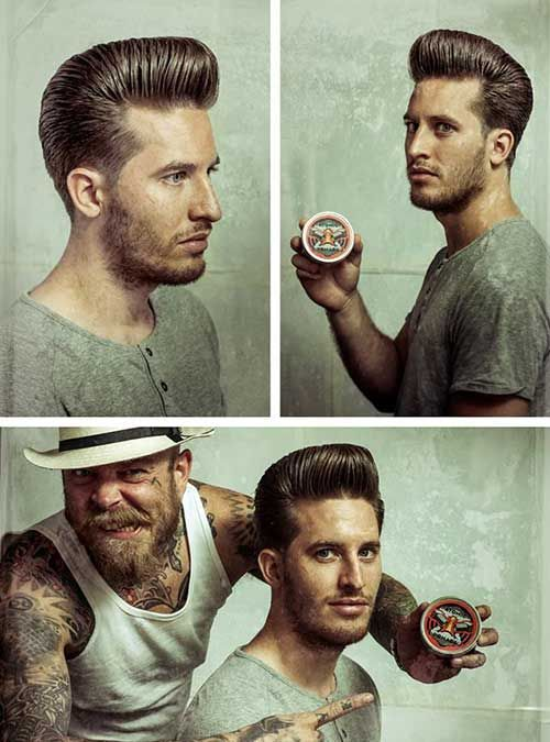 Rockabilly Pomade Hairstyles For Men Pomp Hair Beard