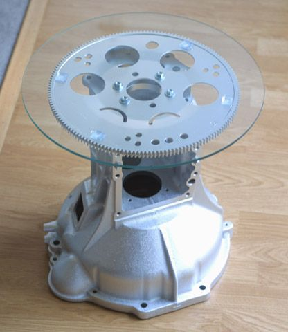 repurposed transmissions | ... http://www.stevenshaver.com/transmission_case_flywheel_end_table_1.jpg