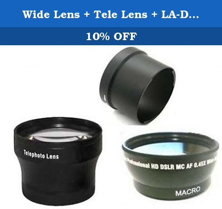 Wide Lens + Tele Lens + LA-DC58J Tube Adapter bundle for Canon Powershot A650 IS. 58mm or 52mm 0.45x Wide Angle Converter Lens + 2.0x TelePhoto Lens + Tube Adapter for Canon A650 Digital Camera. Wide Lens + Tele Lens + Tube Adapter for Canon Powershot A650 The 0.45x Wide Angle Converter lens, screws into the front of the camera zoom lens to provide an even wider angle of coverage. The Professional series 0.45x magnification super wide angle lens, broadens your field for view. The…
