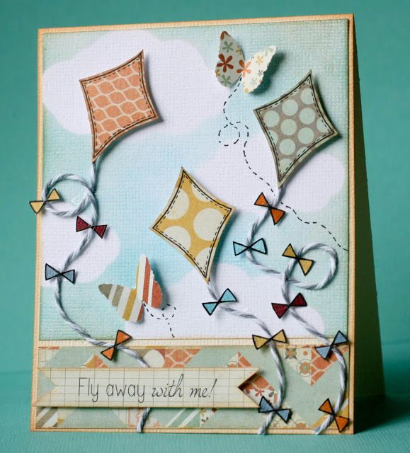 Cute card made with Kite die set