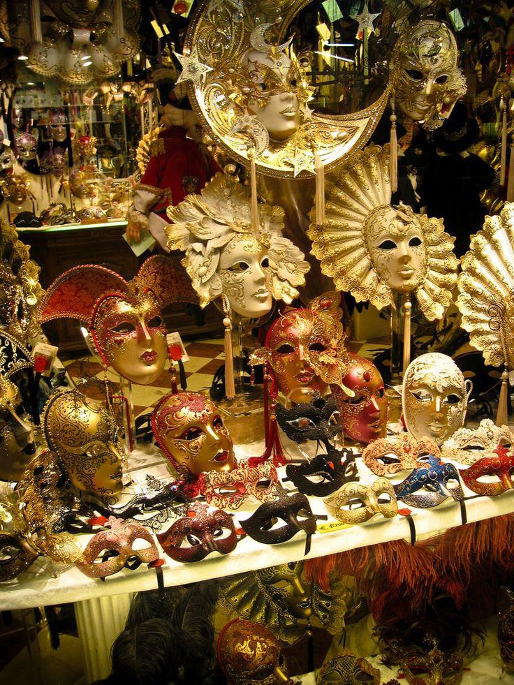 Venetian carnival masks, Venice, Italy ~ photo by Tyson Williams