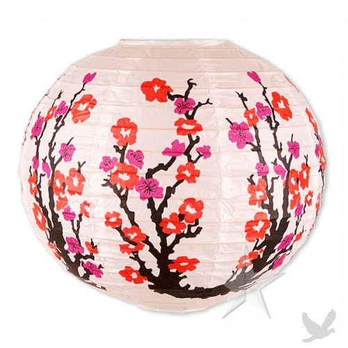 Japanese Lantern Centerpiece : Quot cherry blossom paper lanterns do it w lantern