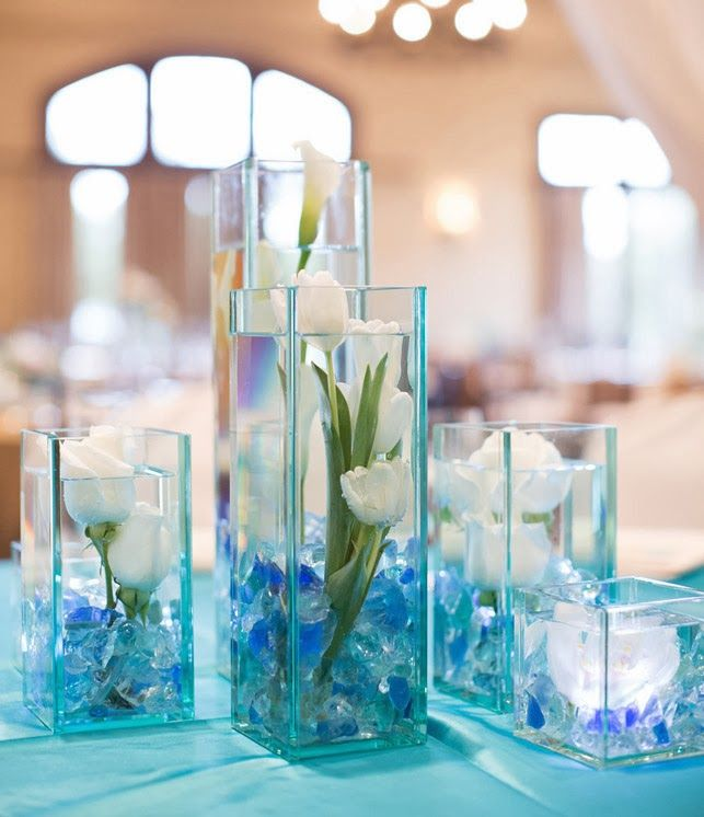 Coastal Themed Bat Mitzvah Centerpieces #batmitzvah #southernevents