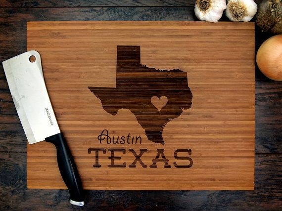 Personalized Wedding Gift, Custom Engraved Wood Cutting Board, Texas State  Love, Anniversary Gift, Housewarming Gift, Christmas Gift